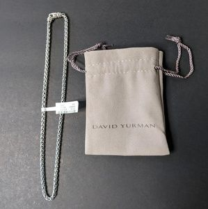 David Yuman Sterling .925 Silver Rope Necklace NWT